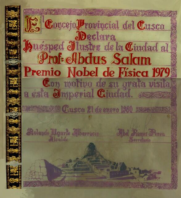 1980 - Huésped Ilustre de la Ciudad, Cusco, Peru - big