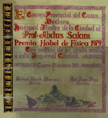 1980 - Huésped Ilustre de la Ciudad, Cusco, Peru - small