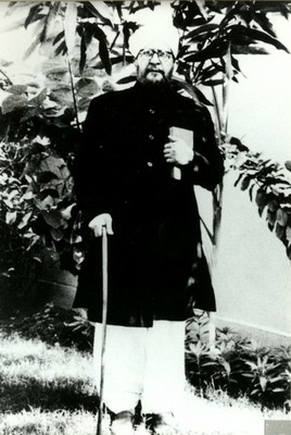 His father, Chaudhry Muhammad Hussain - small