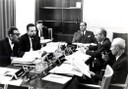 ICTP's first Scientific Council, IAEA, Vienna, 1964, chaired by R. Oppenheimer (right) - thumbnail
