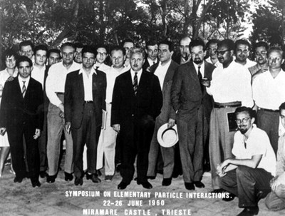 Symposium on Elementary Particle Interactions, Miramare, June 1960: first visit to Trieste - small