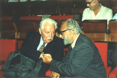 With Claudio Villi, President of the 'Consorzio per la Fisica', 1991 - small