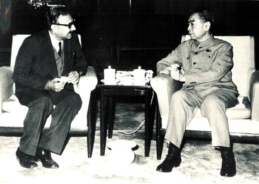 With Chinese Premier Chou En-lai, 1972 - big