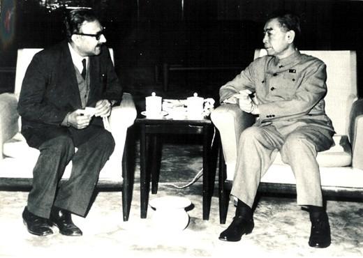 With Chinese Premier Chou En-lai, 1972 - big