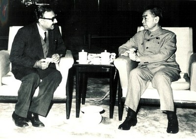 With Chinese Premier Chou En-lai, 1972 - small