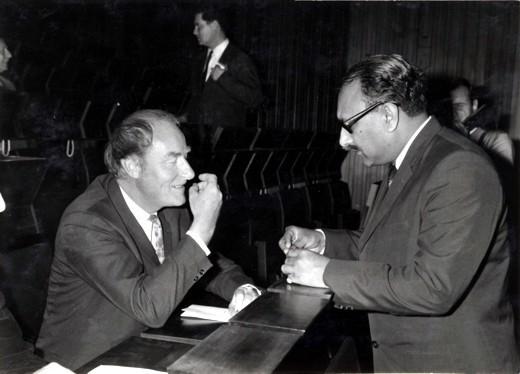 With Nobel Laureate Francis Crick, 1968 - big