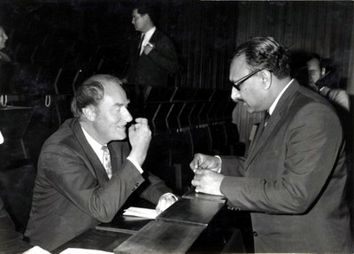 With Nobel Laureate Francis Crick, 1968 - small