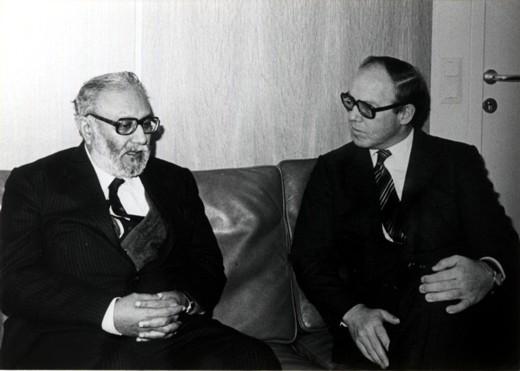 With Hans Blix, IAEA Director General, 1981 - big