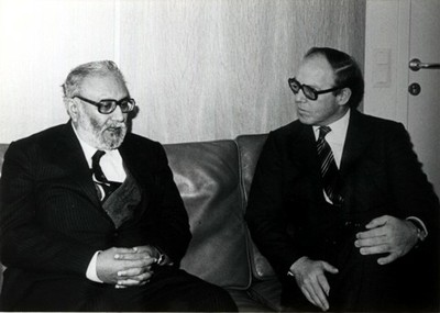 With Hans Blix, IAEA Director General, 1981 - small
