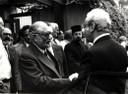 With Javier Pérez de Cuéllar, Secretary-General of the United Nations, 1985 - thumbnail