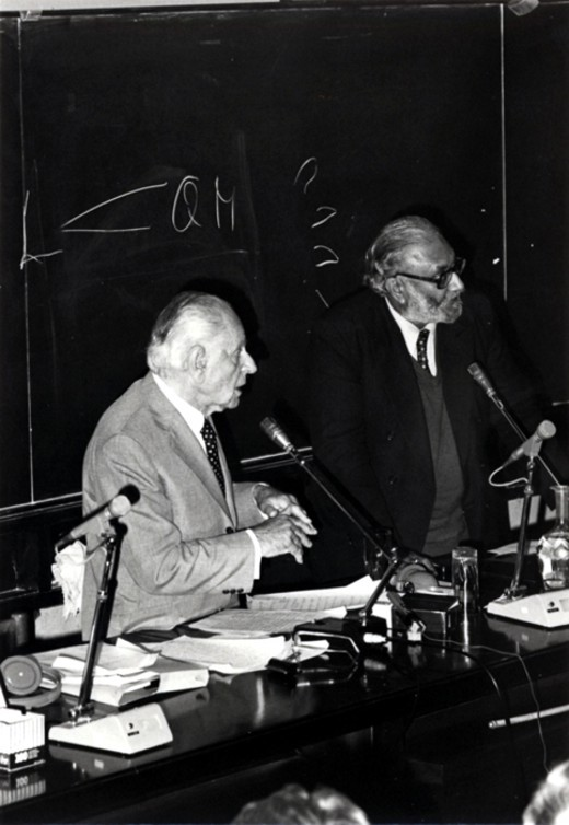 With philosopher Karl R. Popper, 1983 - big