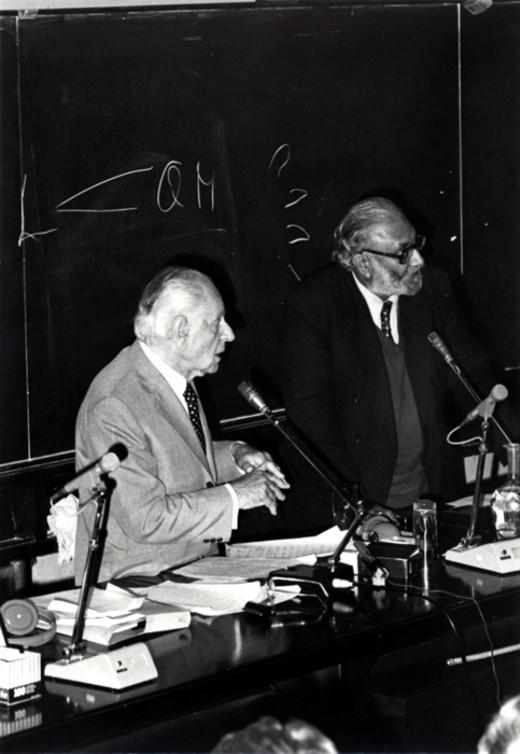 With philosopher Karl R. Popper, 1983 - big