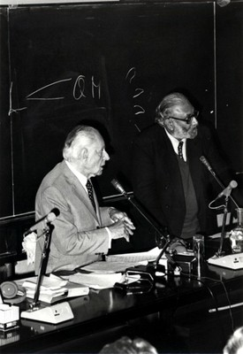 With philosopher Karl R. Popper, 1983 - small