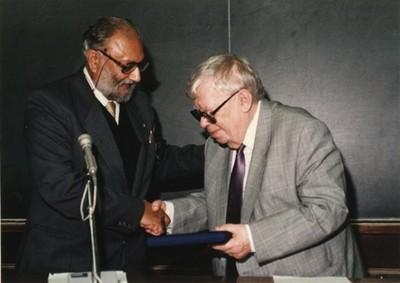 With Nikolay N. Bogolyubov, 1987 - small