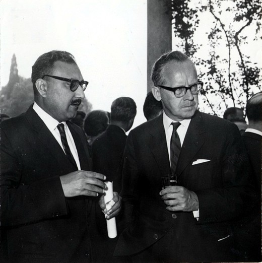 With Sigvard Eklund, IAEA Director General, 1964 - big