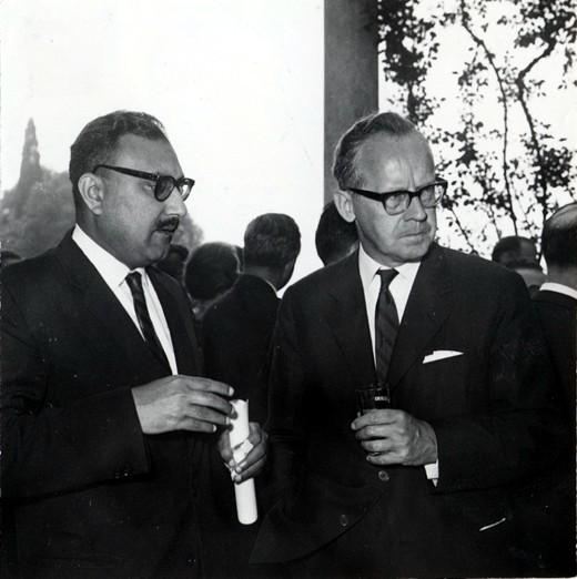 With Sigvard Eklund, IAEA Director General, 1964 - big