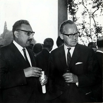With Sigvard Eklund, IAEA Director General, 1964 - small