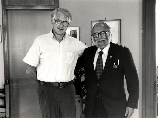 With Nobel Laureate Sheldon L. Glashow, 1986 - big