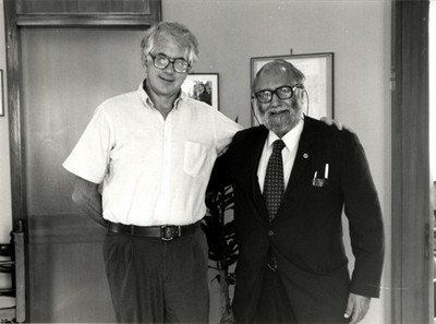 With Nobel Laureate Sheldon L. Glashow, 1986 - small